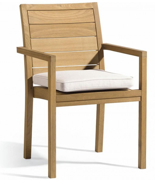 Siena teak square armchair