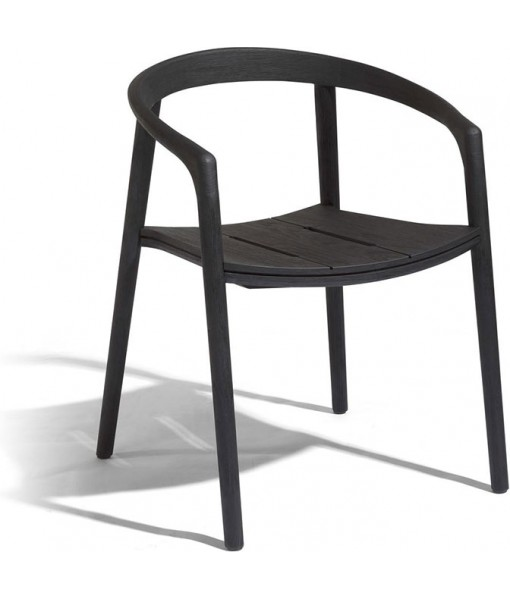 Solid armchair - teak nero