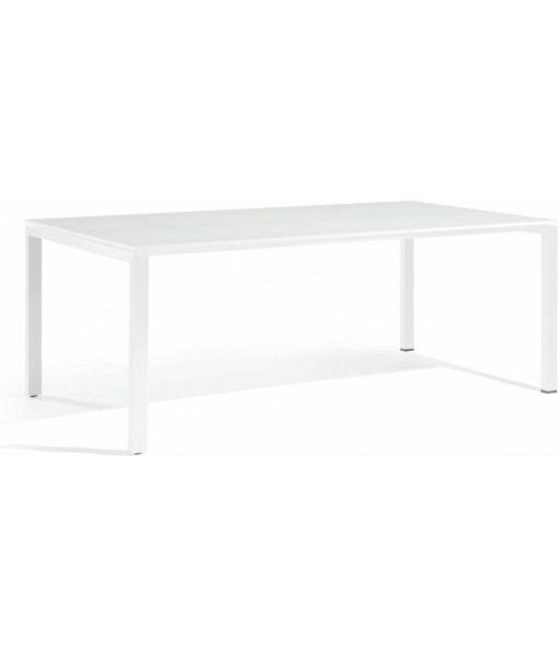 Trento Dining table - glass white ...