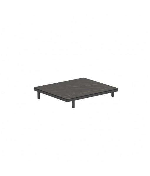 ALURA LOUNGE 140 LTL TABLE 140X120X23CM BLACK TABLETOP CERAMIC VULCANO BLACK