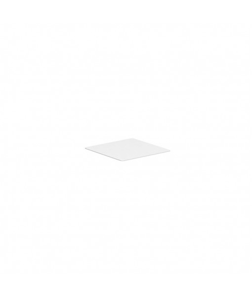ALURA LOUNGE TABLETOP 80X80CM GLASS WHITE
