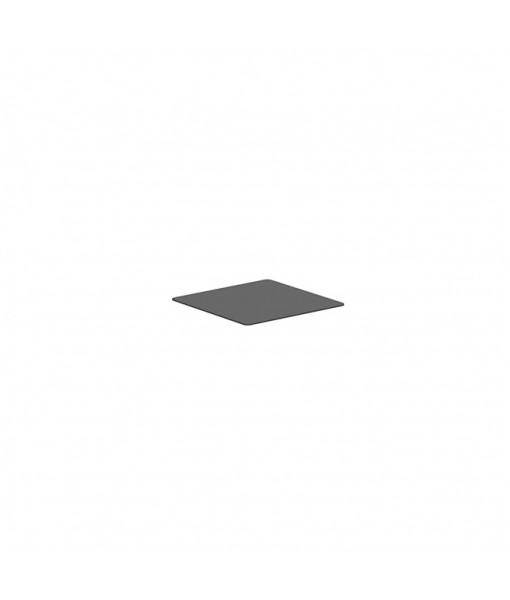 ALURA LOUNGE TABLETOP 80X80CM GLASS BLACK