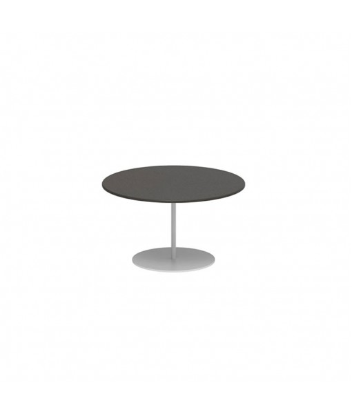 BUTLER SIDE TABLE 60CM ROUND WHITE ...