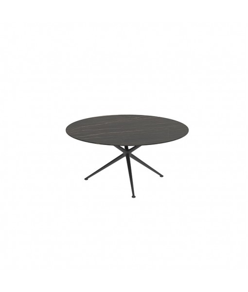 EXES TABLE 160CM ROUND ANTHRACITE WITH ...