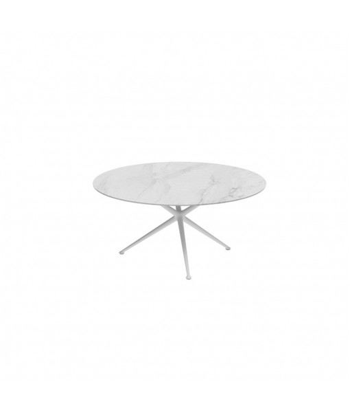 EXES TABLE 160CM ROUND WHITE WITH ...