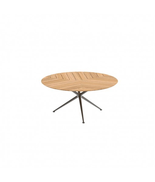 EXES TABLE 160CM ROUND BRONZE WITH ...