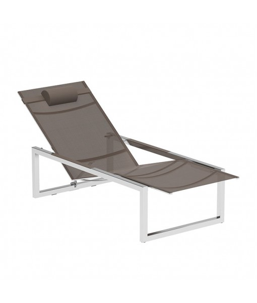 NINIX RECLINABLE LOUNGER STAINLESS STEEL + ...