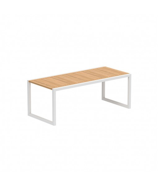 NINIX TABLE 200X90CM WHITE FRAME AND ...
