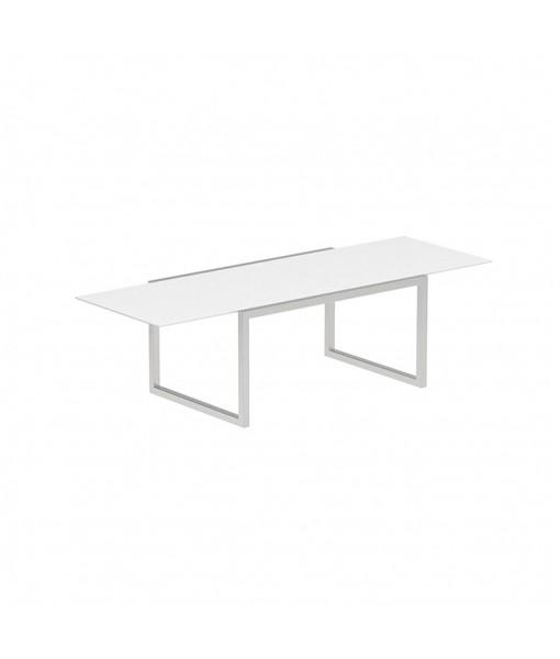 NINIX EXTENDABLE TABLE 100X150/270 WHITE CERAMIC