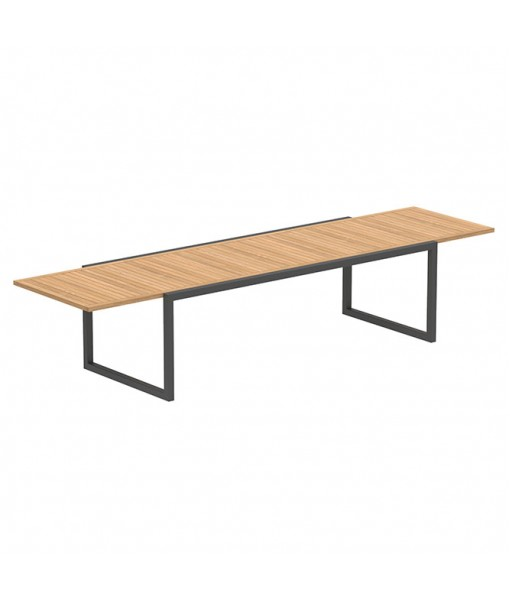 NINIX EXTENDABLE TABLE 100X240/360 ANTHRACITE FRAME ...