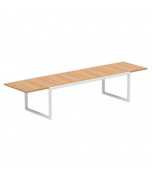NINIX EXTENDABLE TABLE 100X240/360 WHITE FRAME ...