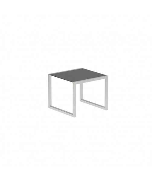 NINIX TABLE 90X90CM WITH STAINLESS STEEL ...