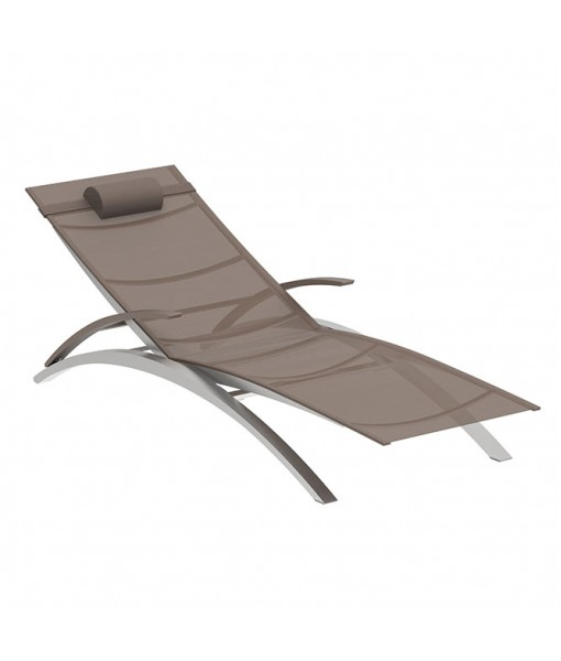 OZON STACKABLE LOUNGER BATYLINE CAPPUCCINO