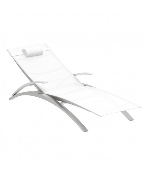 OZON STACKABLE LOUNGER WHITE BATYLINE