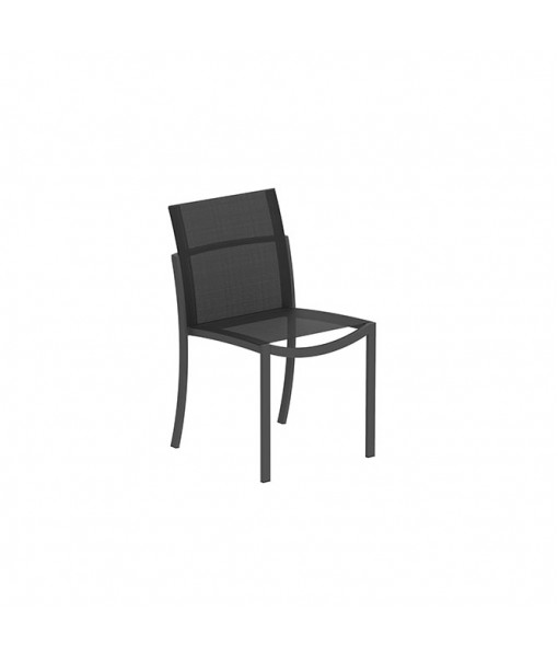 OZON STACKABLE CHAIR ALU BLACK AND ...