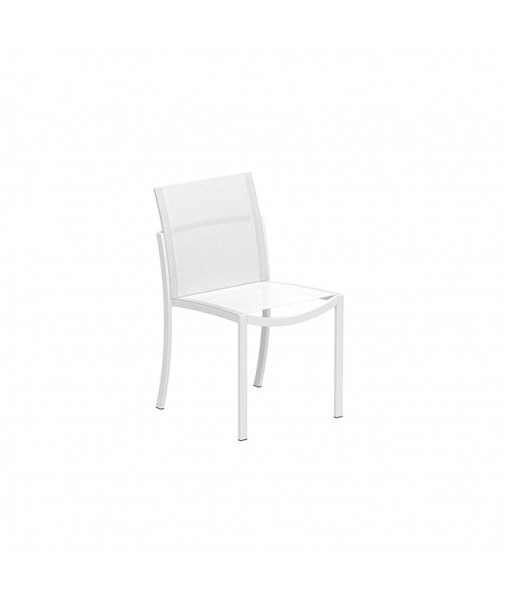 OZON STACKABLE CHAIR ALU WHITE AND ...