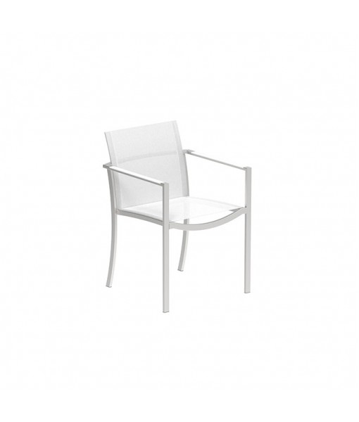 OZON STACKABLE CHAIR INOX AND WHITE ...