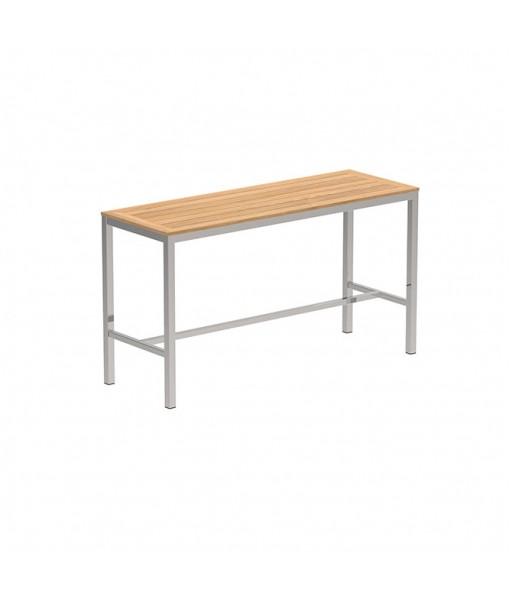 TABOELA HIGH TABLE 200X70CM WITH TEAK ...