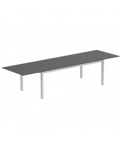 TABOELA EXTENDABLE TABLE 100X220/340CM EP + CERAMIC TOP BLACK