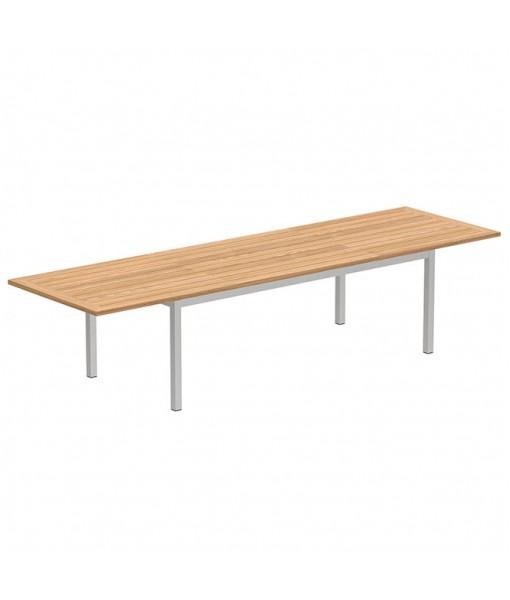 TABOELA EXTENDABLE TABLE 100X220/340CM WITH TEAK TABLETOP