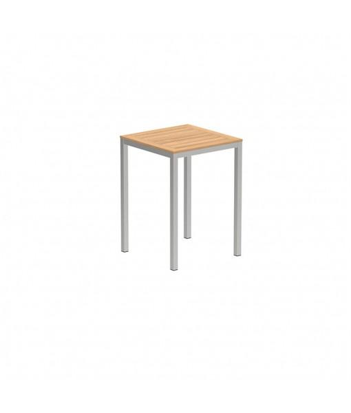 TABOELA HIGH TABLE 80X80CM WITH TEAK ...
