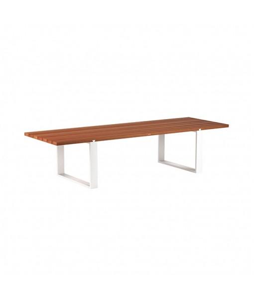 VIGOR 320 TABLE WHITE WITH MAHOGANY ...
