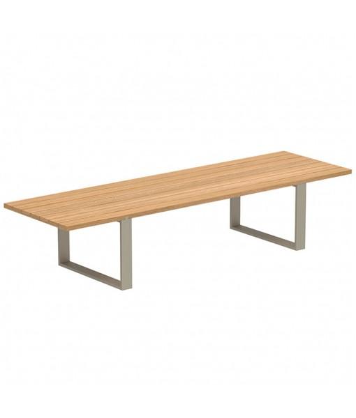VIGOR 360 TABLE SAND WITH TEAK TABLETOP
