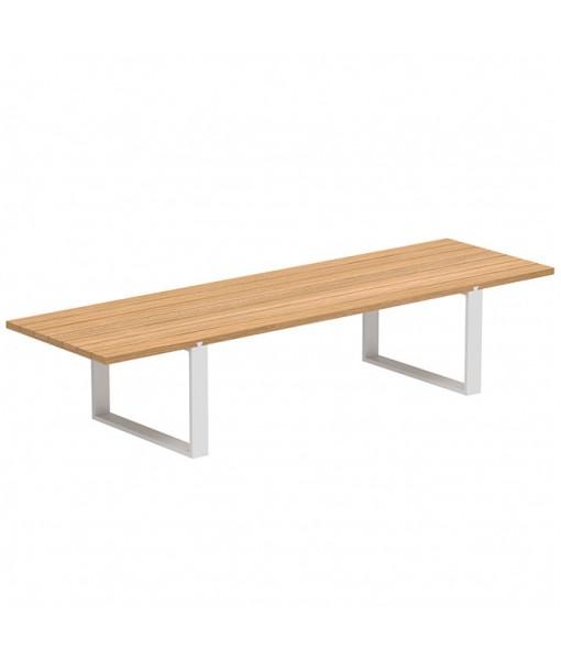 VIGOR 360 TABLE WHITE WITH TEAK ...