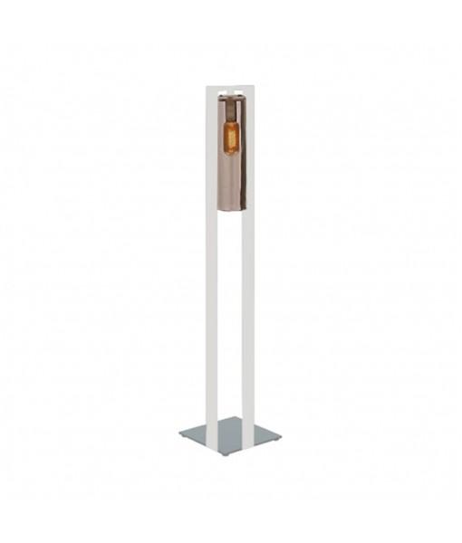 DOME FLOOR LAMP WHITE AMBER