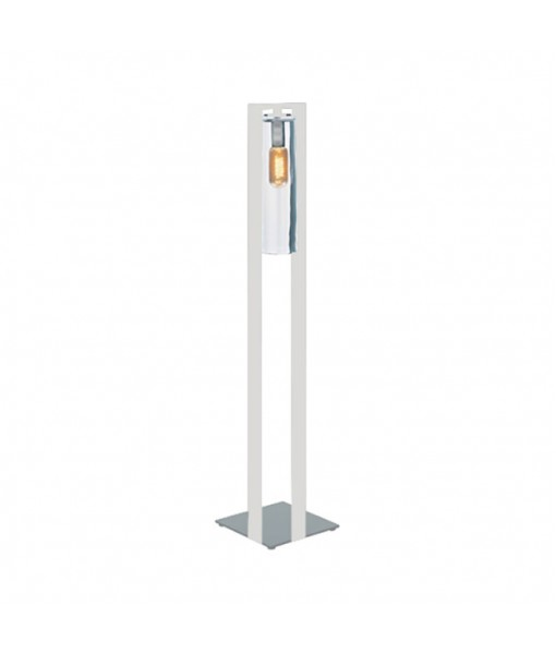 DOME FLOOR LAMP WHITE CLEAR