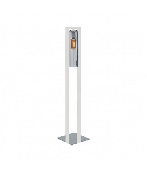 DOME FLOOR LAMP WHITE SMOKE