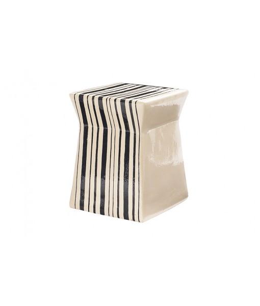Ceramic Artisan Series Ashlar Stool/Accent Table