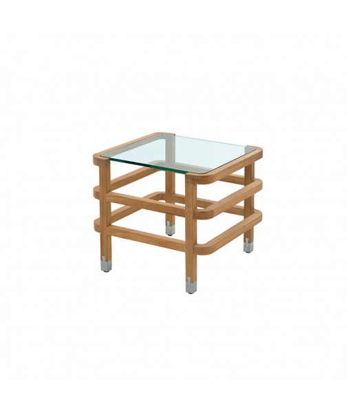 LINLEY Square Occasional Table with Glass ...