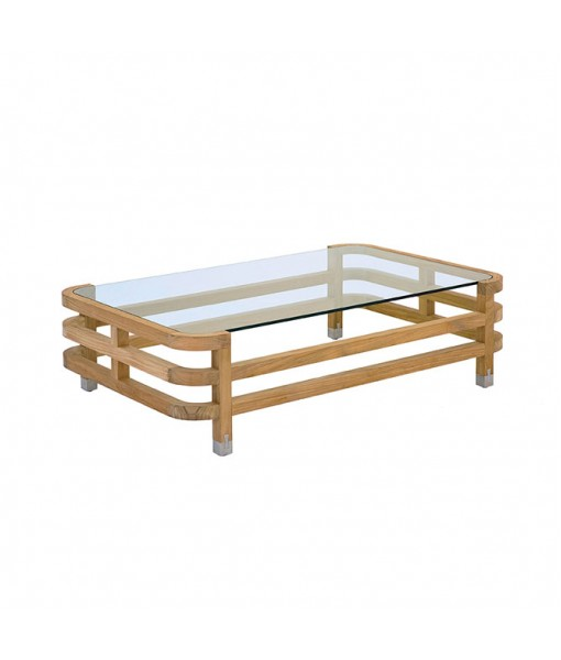 LINLEY Rectangular Coffee Table with Glass ...