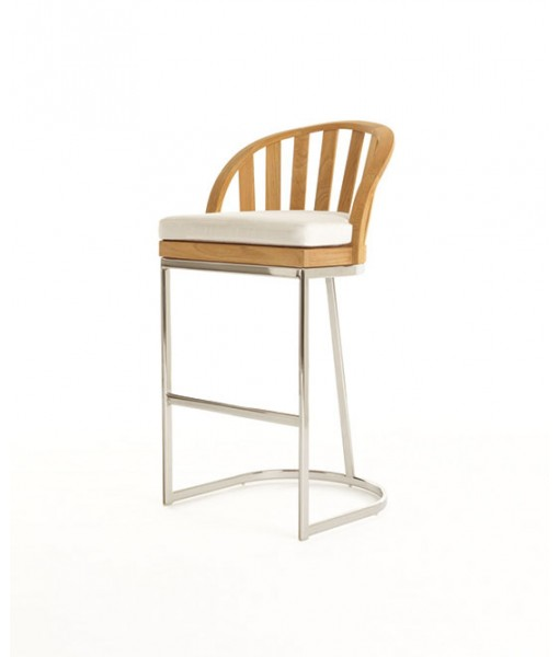 PICKET Bar Chair With Seat Cushion ...